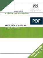Building Regs 7 2000 Materials & Workmanship