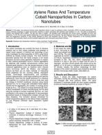 Effect of Acetylene Rates and Temperature Variations of Cobalt Nanoparticles in Carbon Nanotubes