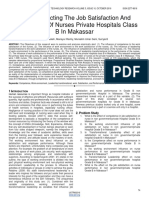 Factors Affecting the Job Satisfaction and Performance of Nurses Private Hospitals Class B in Makassar
