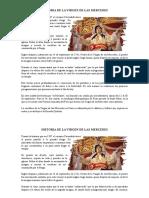 Historia de La Virgen de Las Mercedes