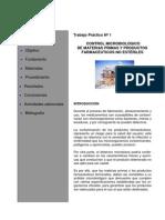 Control Microbiologico de Materias Primas y Productos Farmaceuticos No Esteriles