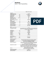 Nuevo BMW Serie 1 Datos Tecnicos