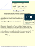 Metler Designing Scoring Rubrics for Your Classroom (2)