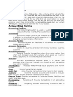 Basic Accounting and definitions