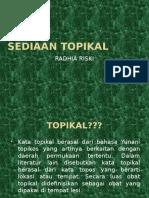 Sediaan Topikal Steril Dan Non Steril