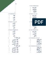 Latihan Bahasa Arab Kelas 2 Semester 1