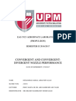 Convergent & Convergent-Divergent Nozzle Performance Lab Report