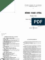 Lecomte & Ghedira 1966_Méthode d'Arabe Littéral