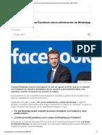 3 Maneras en Las Que Facebook Usa Tu Información de WhatsApp - BBC Mundo