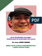j. Ure en El Encuentro Colombo Venezolanos de Escritores (2009)