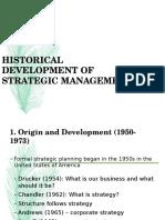 Edited History of Strategic Management