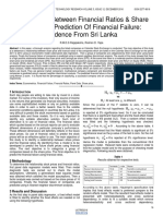 Relationship Between Financial Ratios Share Prices and Prediction of Financial Failure Evidence From Sri Lanka