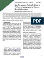 Leaf Diseases on Eucalyptus Pellita F Muell in Plantation of Pt Surya Hutani Jaya at Sebulu East Kalimantan