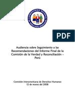 Informe a CIDH - Audiencia CVR