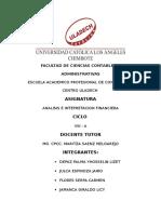 Analisis e Interpretacion Finaciera