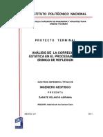 Análisis de la corrección estática en el procesamiento sísmico de reflexión.pdf