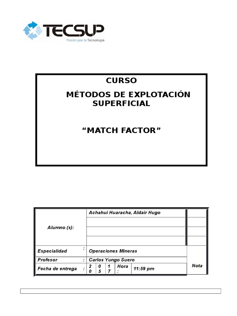 Matchfactor