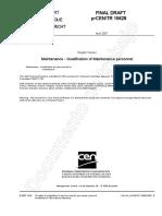 Certificación de Habilidades Personal Mantenimiento