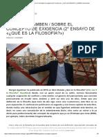 Giorgio Agamben _ Sobre el concepto de exigencia (2° ensayo de «¿Qué es la filosofía_») _ Artillería Inmanente.pdf