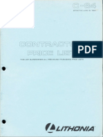 Lithonia Fluorescent Contractor Price List 1984