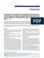 Association of Systolic and Diastolic Blood Pressure on Mortality