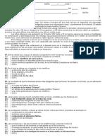 Atividade Avaliativa de Lingua Espanhola 5 Av. (1 Ano) Gabaritada