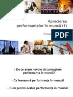 PM Curs 5 Aprecierea Performantelor Profesionale