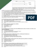 Atividade Avaliativa de Lingua Espanhola 5 Av. (1 Ano)