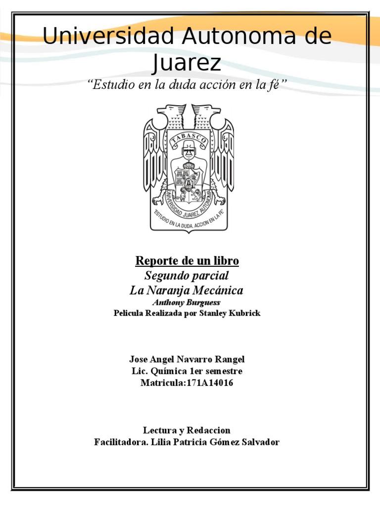 la naranja mecanica libro pdf español latino