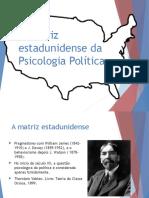 A Matriz Estadunidense Da Psicologia Política