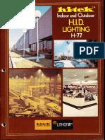 Lithonia Hi-Tek Indoor & Outdoor Lighting Catalog 1977