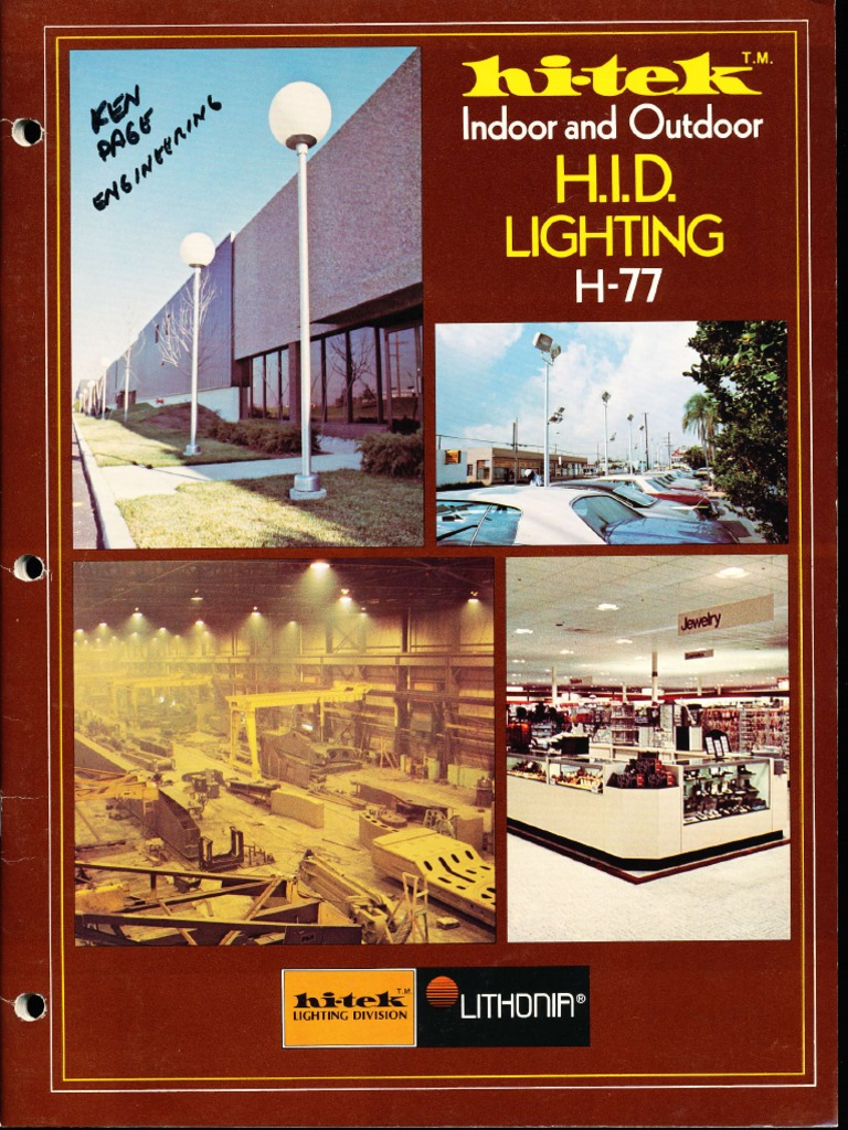 Lithonia Hi Tek Indoor Outdoor Lighting Catalog 1977 Well Dcc Wiring Ho Train Layouts On 3 Lamp T5 Ballast Diagram