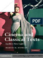 Cinema & Classical Texts. Apollo's New Light
