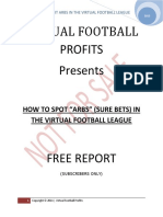 Virtual Football League Free Report