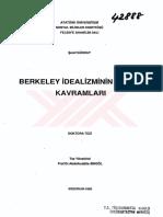 Berkeley idealizminin Temel Kavramları