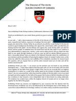 Response to Archbishops Response to Appeal to Bishops of British Columbia and Yukon