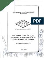 Reglamento Especfico Del Sistema de Adminstracinde Bienes y Servicios de YPFB RE-SABS-EPNE-YPFB