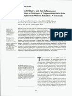 Combined Palliative and Anti-Inflammatory Medications as Treatment of Temporomandibular Joint