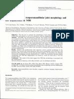 Correlation between temporomandibular joint morphology and disc displacement by MRI