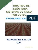 INSTRUCTIVO DE DISEÑO PARA SISTEMAS DE RIEGO POR GOTEO.docx