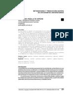 METADISCURSO Y PRODUCCIÓN ESCRITA EN ESTUDIANTES UNIVERSITARIOS