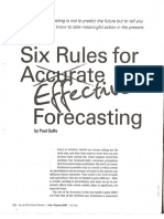 Six Rules for Effective Forecasting
