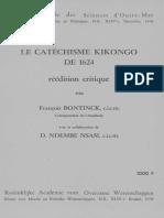 Le Catéchisme Kikongo de 1624 Réédition Critique_1978