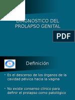 DIAGNOSTICO DEL PROLAPSO GENITAL.ppt