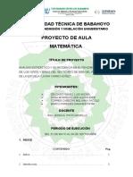 Proyecto Del Pre Matematicas