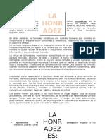 La Honradez