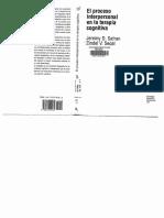 El Proceso Interpersonal en La T. Cognitiva- Safran & Segal