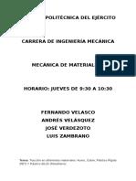 Tracción en Diferentes Materiales y Compresión en Madera (Paralela y Perpendicular a La Fibra)