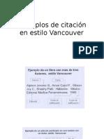 Citación Estilo Vancouver