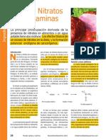 Nitritos Nitraros u Nitrosaminas